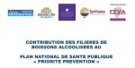 """Contribution des filières de boissons alcoolisées au plan national de santé publique """"priorité prévention"""""""