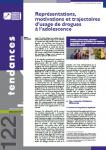 Représentations, motivations et trajectoires d'usage de drogues à l'adolescence