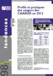 Profils et pratiques des usagers des CAARUD en 2012