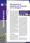 Perceptions et opinions des Français sur les drogues