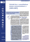 Activité des « consultations jeunes consommateurs » (2005-2007)