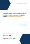 Synthèse des connaissances du RESO/ service universitaire de promotion de la santé de l'Université catholique de Louvain, n° 7 - Janvier 2020 - L'approche réaliste pour évaluer les interventions de promotion de la santé