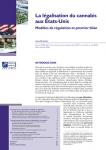 La légalisation du cannabis aux Etats-Unis. Modèles de régulation et premier bilan