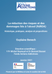 La réduction des risques et des dommages liés à l'alcool (RdRDA) - Historique, pratiques, analyse et propositions