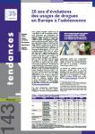 20 ans d'évolutions des usages de drogues en Europe à l'adolescence